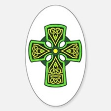 Irish Celtic Cross Tattoo Sticker (Oval)
