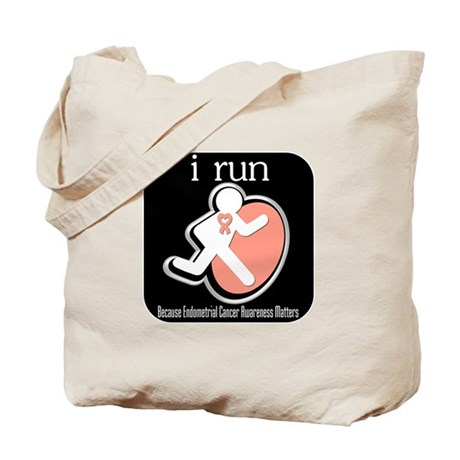 I Run Cancer Awareness Tote Bag