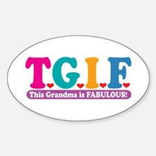 Fabulous Grandma Oval Decal