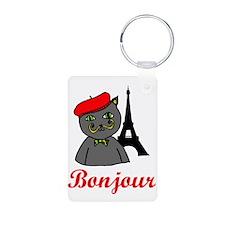Bonjour Paris Keychains