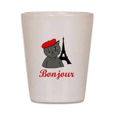 Bonjour Paris Shot Glass