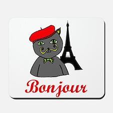 Bonjour Paris Mousepad