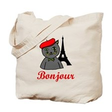 Bonjour Paris Tote Bag