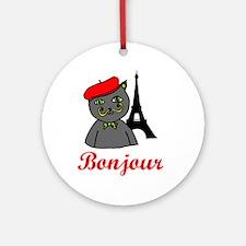 Bonjour Paris Ornament (Round)