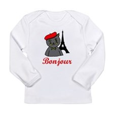 Bonjour Paris Long Sleeve Infant T-Shirt