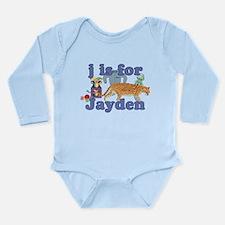 J is for Jayden Long Sleeve Infant Bodysuit