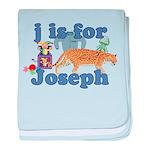 J is for Joseph baby blanket