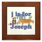 J is for Joseph Framed Tile