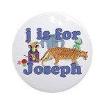 J is for Joseph Ornament (Round)