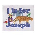 J is for Joseph Throw Blanket