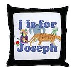 J is for Joseph Throw Pillow