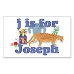 J is for Joseph Sticker (Rectangle)