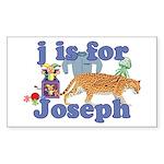 J is for Joseph Sticker (Rectangle 10 pk)