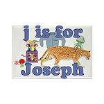 J is for Joseph Rectangle Magnet