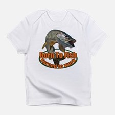 Born to fish forced to work Infant T-Shirt