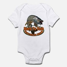 Born to fish forced to work Infant Bodysuit