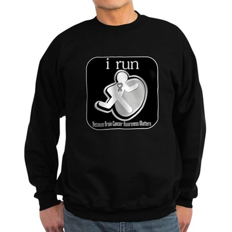 I Run Cancer Awareness Sweatshirt (dark)