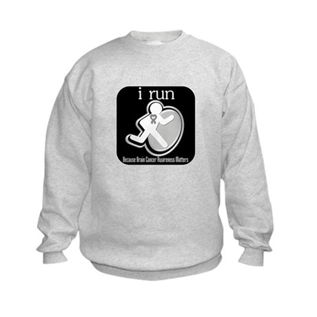 I Run Cancer Awareness Kids Sweatshirt