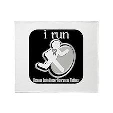 I Run Cancer Awareness Throw Blanket
