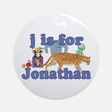 J is for Jonathan Ornament (Round)