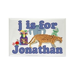 J is for Jonathan Rectangle Magnet (10 pack)