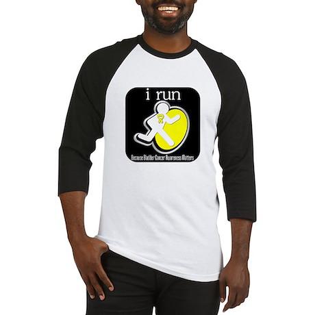 I Run Cancer Awareness Baseball Jersey