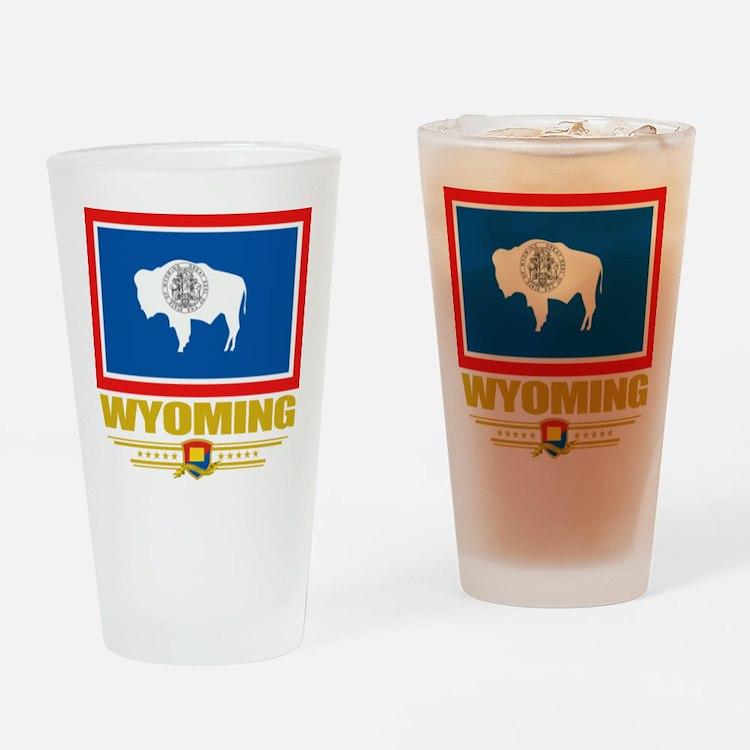 Wyoming Pride Drinking Glass