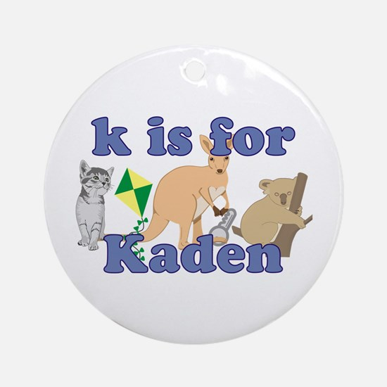 K is for Kaden Ornament (Round)