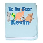 K is for Kevin baby blanket
