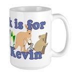 K is for Kevin Large Mug