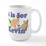K is for Kevin Large Mug