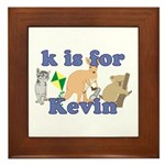 K is for Kevin Framed Tile