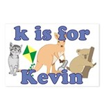 K is for Kevin Postcards (Package of 8)