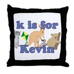 K is for Kevin Throw Pillow