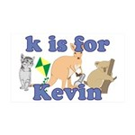 K is for Kevin 38.5 x 24.5 Wall Peel