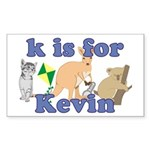 K is for Kevin Sticker (Rectangle 50 pk)