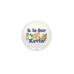 K is for Kevin Mini Button (10 pack)