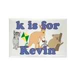 K is for Kevin Rectangle Magnet (10 pack)