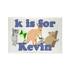 K is for Kevin Rectangle Magnet (100 pack)