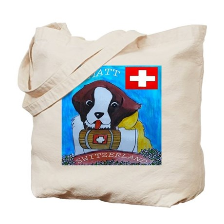 St Bernard Switzerland Tote Bag
