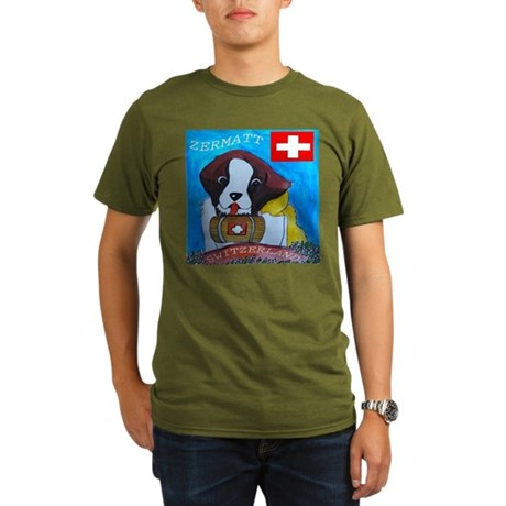 St Bernard Switzerland Organic Men's T-Shirt (dark
