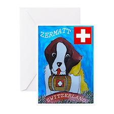 St Bernard Switzerland Greeting Cards (Pk of 20)