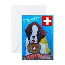 St Bernard Switzerland Greeting Card