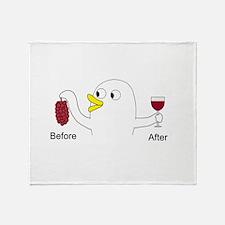 Wine Maker Throw Blanket