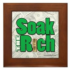 Soak The Rich... Framed Tile
