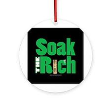 Soak The Rich... Ornament (Round)