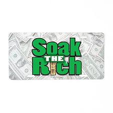 Soak The Rich... Aluminum License Plate
