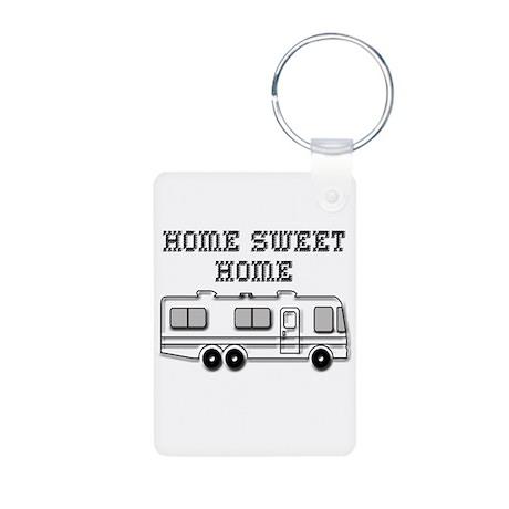 Home Sweet Home Motorhome Aluminum Photo Keychain