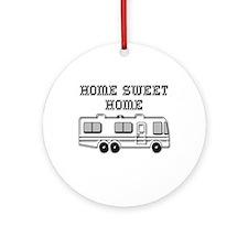Home Sweet Home Motorhome Ornament (Round)