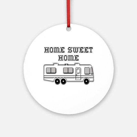 Home Sweet Home Motorhome Round Ornament
